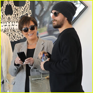 Kris Jenner & Scott Disick Shop For Art While Filming 'KUWTK'