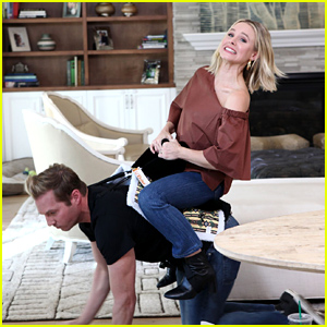 Kristen Bell Tests Out Products for Pregnant Women & Babies With Ryan Hansen - Watch Now!