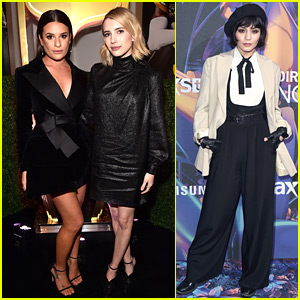 Lea Michele, Emma Roberts, & Vanessa Hudgens Attend Pre-Super Bowl Events in Minneapolis!
