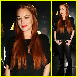 Lindsay Lohan Poses at Her LOHAN Nightclub in Greece!