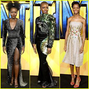 Lupita Nyong'o, Danai Gurira & Letitia Wright Represent The Ladies of 'Black Panther' at European Premiere!