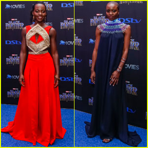 Lupita Nyong'o & Danai Gurira Premiere 'Black Panther' in South Africa