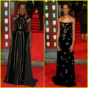 Black Panther's Lupita Nyong'o & Letitia Wright Attend BAFTAs 2018