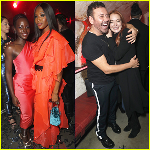 Lupita Nyong'o, Naomi Campbell & Lindsay Lohan Step Out for Mert Alas' Birthday Party!