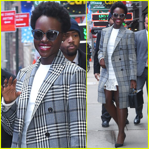 Lupita Nyong'o Stuns During 'Black Panther' Press Tour in NYC!