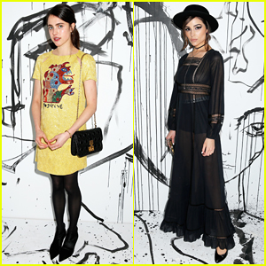 Margaret Qualley & Olivia Culpo Celebrate Dior's Spring-Summer 2018 Women's RTW Collection!