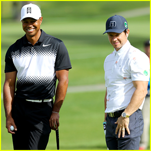 Mark Wahlberg Plays Golf with Tiger Woods at Genesis Open