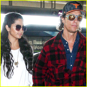 Matthew McConaughey & Wife Camila Alves Jet Out of Town!