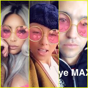Kim Kardashian, Alicia Keys, Pete Wentz & More Jam Out to MAX's 'Lights Down Low' on Snapchat!