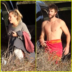 Miley Cyrus & Liam Hemsworth Hit the Beach Together in Malibu!