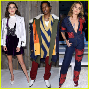 Millie Bobby Brown Hangs Out with ASAP Rocky & Paris Jackson at Calvin Klein Collection's NYFW Show!