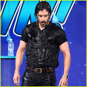 Milo Ventimiglia Gets Drenched with Water on 'Ellen' (Video)
