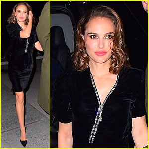 Natalie Portman Wears Velvet Dress to 'SNL' After Party