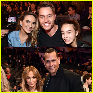 Justin Hartley Brings Wife Chrishell Stause & Daughter Isabelle to All-Star Saturday Night!