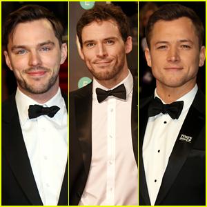 Nicholas Hoult, Sam Claflin, & Taron Egerton Are Dapper Dudes at BAFTAs 2018!