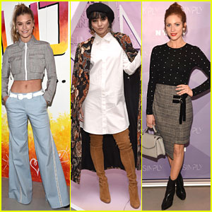 Nina Agdal, Vanessa Hudgens, & Brittany Snow Attend NYC Beauty & Fashion Conference