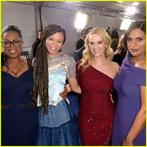 Oprah Winfrey Reese Witherspoon Mindy Kaling Storm Reid Team Up For A Wrinkle In Time Premiere Ava Duvernay Bellamy Young Chris Pine Deric Mccabe Gugu Mbatha Raw Levi Miller Mindy Kaling