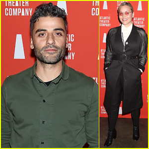 Oscar Isaac & Abbie Cornish Step Out To Support 'Hangmen' Opening!