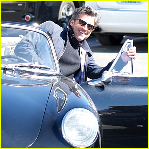 Patrick Dempsey Pulls his Porsche Up to the Valet