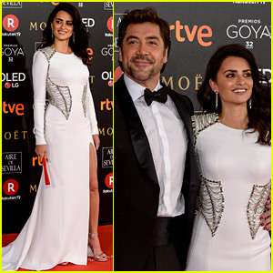 Penelope Cruz Wears Versace, Couples Up with Javier Bardem at Goya Cinema Awards