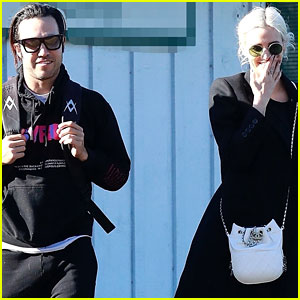 Pete Wentz & Ashlee Simpson Reunite for Son Bronx's Tennis Lesson