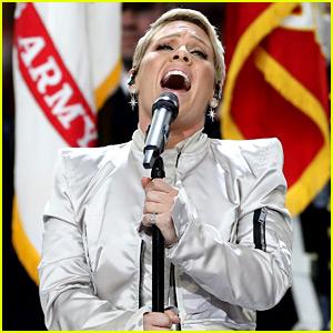 Pink Sings National Anthem at Super Bowl 2018 (Video)