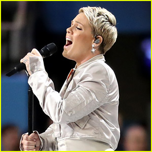 Pink Spit Out a Throat Lozenge Before Super Bowl Performance, Responds to Haters