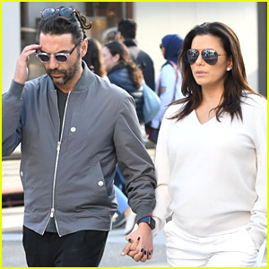 Pregnant Eva Longoria & Husband Jose Baston Couple Up for Lunch in L.A.
