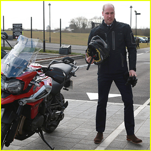 Prince William Takes Latest Triumph Tiger 1200 Motorbike for Test Spin!