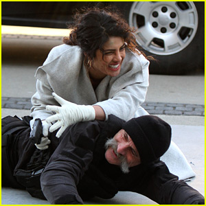 Priyanka Chopra Breaks Character Filming a Stunt in NYC!
