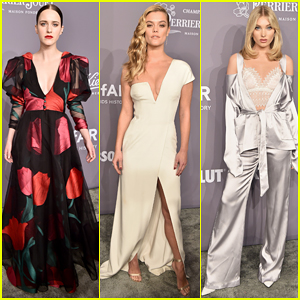 Rachel Brosnahan, Nina Agdal & Elsa Hosk Stun On Carpet at amfAR Gala 2018!