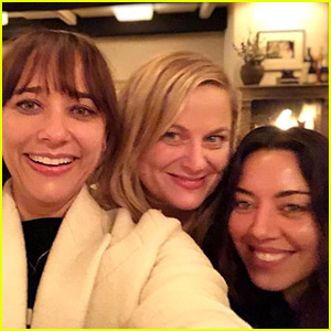 Rashida Jones, Amy Poehler, & Aubrey Plaza Have 'Parks & Rec' Reunion on Galentine's Day!