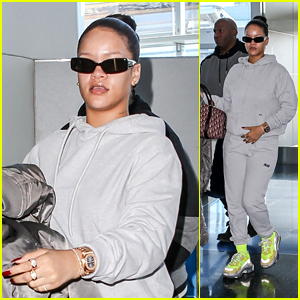 Rihanna Keeps It Comfy While Heading Out of New York City After Celebrating Her 30th Birthday!
