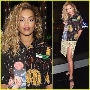 Rita Ora Goes Glam for Prada Fashion Show in Milan
