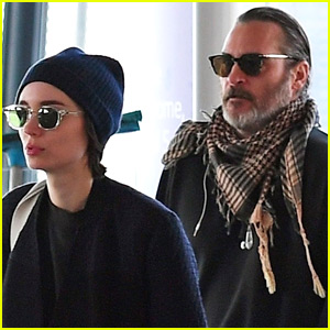 Rooney Mara & Joaquin Phoenix Jet Out of London Together