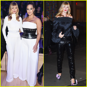 Rosie Huntington-Whiteley & Ashley Graham Buddy Up at Brandon Maxwell NYFW Show!
