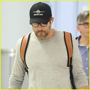 Ryan Reynolds Keeps a Low Profile at JFK Airport in NYC