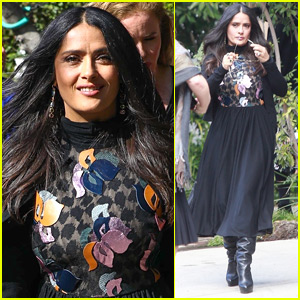 Salma Hayek Pinault Goes Glam for Pre-Oscars Party in Beverly Hills!
