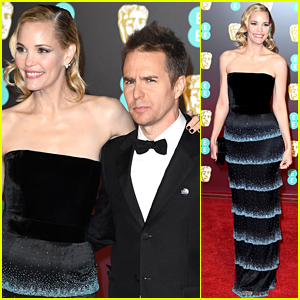 Sam Rockwell & Girlfriend Leslie Bibb Kick Off BAFTAs 2018 Red Carpet!