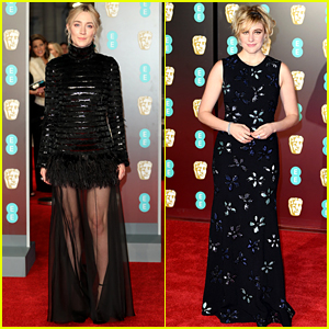 Saoirse Ronan & Greta Gerwig Bring 'Lady Bird' to BAFTAs 2018