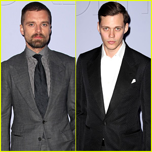 Sebastian Stan & Bill Skarsgard Suit Up for Tom Ford Show
