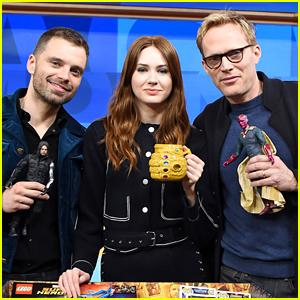 Sebastian Stan, Karen Gillan, & Paul Bettany Debut New 'Avengers' Toys!