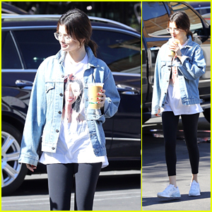 Selena Gomez Wears a Selena Quintanilla Shirt While Grabbing Coffee With a Friend!