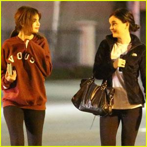 Selena Gomez Grabs Dinner With A Girl Friend in LA!