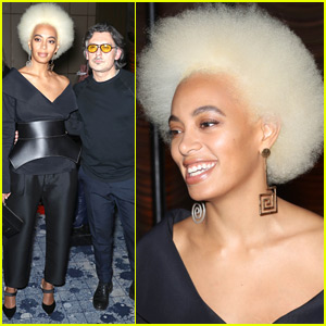 Solange Knowles Shows Off Platinum Blonde Hair at Stuart Weitzman Party
