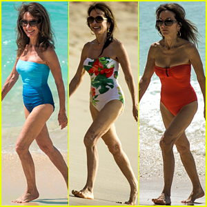 Susan Lucci Hits the Beach in Three Swimsuits at Age 71
