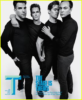 Zachary Quinto, Matt Bomer, Andrew Rannells, & Jim Parsons Cover 'T' Magazine
