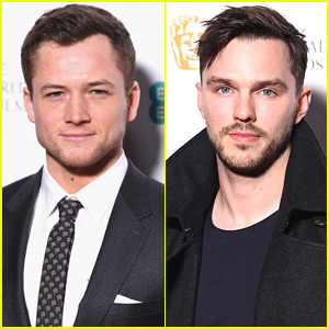 Taron Egerton & Nicholas Hoult Look So Handsome at BAFTAs Nominees Party!