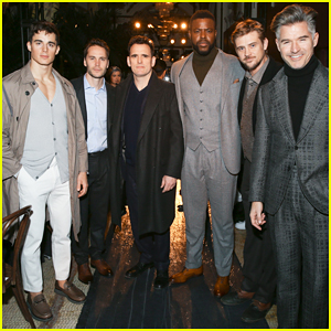 Taylor Kitsch, Winston Duke & Boyd Holbrook Buddy Up at Joseph Abboud Men's NYFW Show!