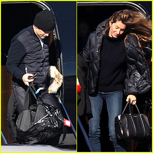 Tom Brady & Gisele Bundchen Arrive Back in Boston After Super Bowl 2018!